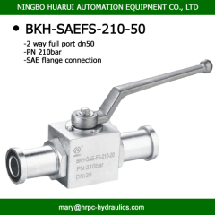 SAE flanged 2 way full port hydraulic oilfield light type 3000 psi 2'' steel ball valves high pressure PN210