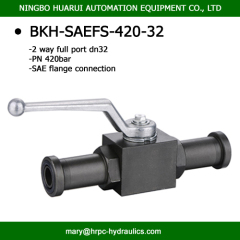 high pressure 2 way full port carbon steel ball valve flanged 1 1/4'' SAE connection 6000psi 420bar substitute of hydac