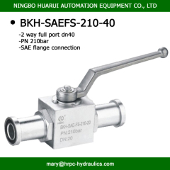 high pressure 210 bar SAE flange port 1 1/2'' 2-way ball valve hydraulic oilfield same as hydac