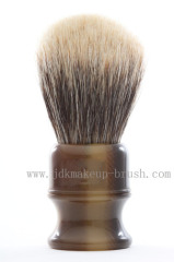 Shaving brush with resin handle