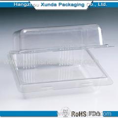 Hamburger plastic clamshell box