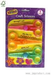 3 pairs craft scissors set