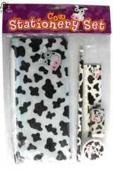 5pc cow stationery set