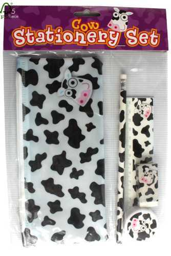 5pc cow stationery set