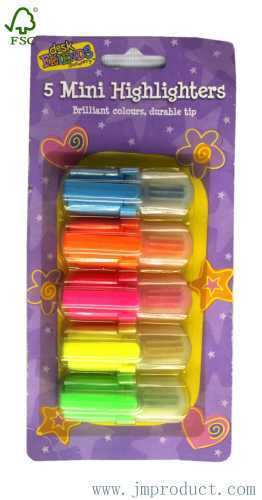 5pc mini highlighters marker pen