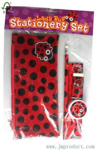 5pc ladybug stationery set