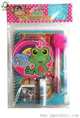7pc frog stationery set