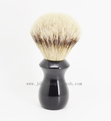 Shaving brush with black resin handle