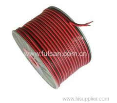 PVC insulation transparent 2 core speaker cable