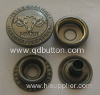 2014 four parts metal press snap button in brass