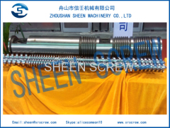Parallel twin screw barrel for Weber DS85 extruder machine