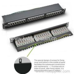 24 Ports Fully Shielded CAT6A Patch Panel
