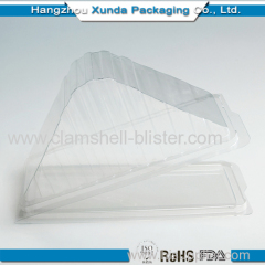Plastic triangle cake box