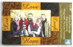3pc family and friend magnet photo frame