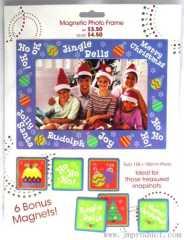 Christmas snapshot magnet photo frame