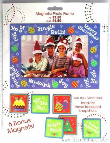 Christmas snapshot magnet photo frame