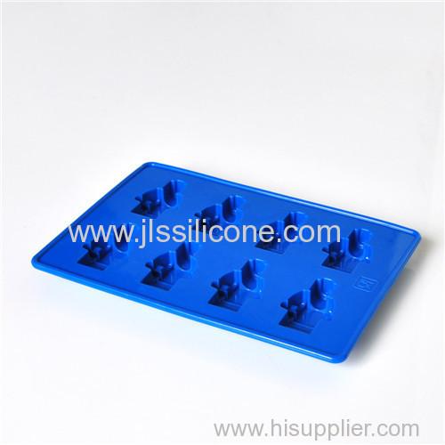 Silicone lego mini figure ice tube tray