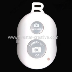 High Quality Wireless Bluetooth Remote Camera Shutter in White for iPhone iPad Smartphones