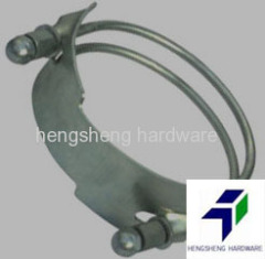 Malleable steel spiral double bolt clamp