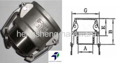 Hengsheng cam and groove -female coupler*male NPT type B