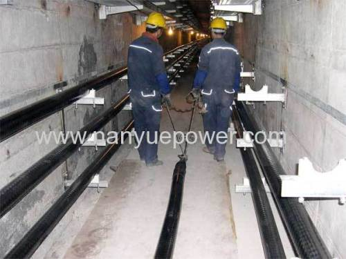 High Voltage Underground Cable Installation : T hydraulic cable pulling winch puller tensioner as