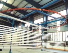 Powder coating application line