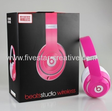 Beats by Dr.Dre Beats Studio 2.0 Bluetooth Wireless Over-The-Ear Headphones Pink w/Remote and Mic