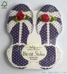 die cut sandal shape sticky notes