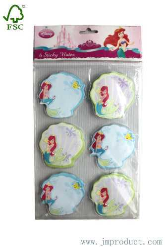 The Mermaid sticky notes with Disney anthorize