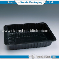 Square plastic tray large