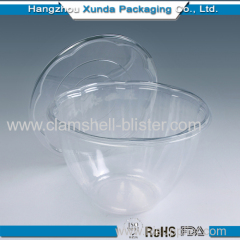 Disposable plastic salad container