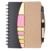 Eco promotional spiral notebook with flag sticky notes