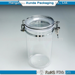 Transparent plastic airtight container