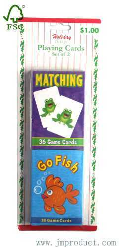 edcational 2 sets playing game cards for kids
