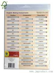 Engish comparison words card for edcation