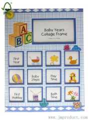 baby years collage frame