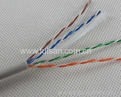 China Manufacturer Best Price 1000ft Bulk 23AWG 4 Pairs UTP Cat6 Cable With CM Fire Retardant Cat6 Cable