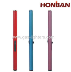 Slim candle gas lighter refillbale