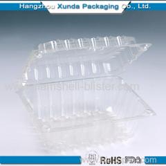 Plastic strawberry clamshell box