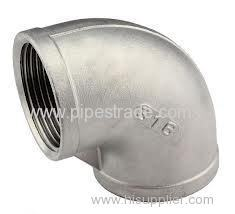 casting ss socket weld pipe fittings-90°elbow