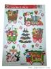 Christmas tree wall clings