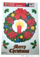 Christmas door decorations stickers