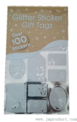 glitter xmas tag stickers