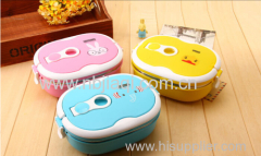 beautiful animal picture plastic lunch box/wild boxes