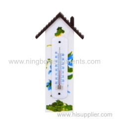 plastic garden thermometer; garden thermometer