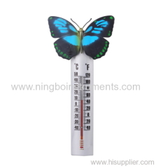 butterfly shape garden thermometer