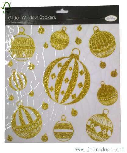 Christmas glitter window sticker