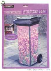 flower design wheelie bin sticker