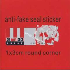 Self adhesive destructive brittle label stickers