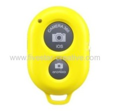 2014 Portable Smart Bluetooth 3.0 Wireless Remote Camera Shutter voor iOS Android Geel